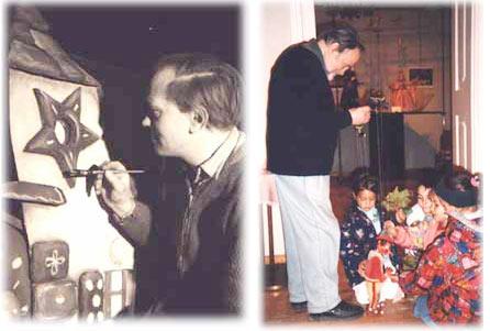 junger Oskar Paul und mit Kindern