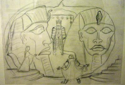 Oskar Pauls Zeichnung Zauberflöte