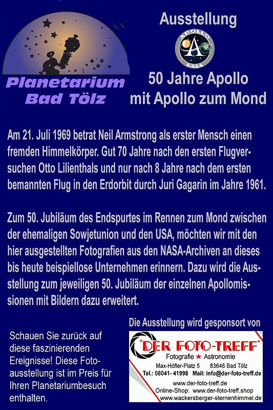 "50 Jahre ""APOLLO"" im Planetarium 22./23.12. 2018 – Tölzer ..."